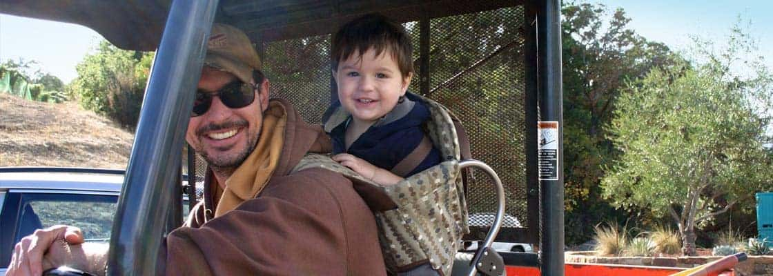 Emmett Reed and his son, Cormac